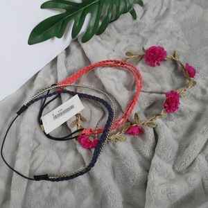 H&M Faux Leather and Flower Headbands